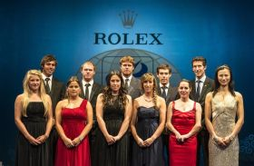 Die Nominierten beimISAF Rolex World Sailor of the Year 2012: (von links) Saskia Sills (GBR), Iain Jensen (AUS), Nathan Outteridge (AUS), Tamara Echegoyen (ESP), Sofía Toro (ESP), Angela Pumariega (ESP), Tom Slingsby (AUS), Mathew Belcher (AUS), Helena Lucas (GBR), Malcolm Page (AUS), Lijia Xu (CHN). Ben Ainslie fehlt. © Rolex / Kurt Arrigo