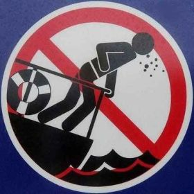 Kein Platz für Würfel-Huster: Spucken verboten.