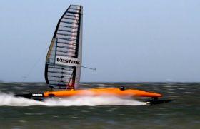 Vestas Sailrocket II im High-Speed-Modus. © Sailrocket