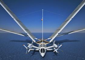 Vision, Zukunft des Segelns, segelndes Flugzeug, fliegende Segelyacht