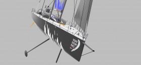 Rendering des neuen 65 Fuß One Design Volvo Ocean Racers von Farr. © Farr Design