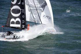 Alex Thomson war die Überraschung der Vendée Globe bisher. Jetzt wurde er durch eine Kollision gebremst. © Hugo Boss