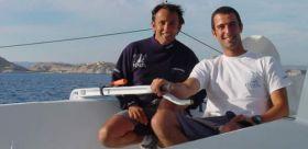 """Alain Gautier mit Armel Le Cléac'h auf """"Foncia"""""""