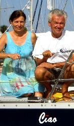 """Das slowenische Ehepaar Pust auf ihrer """"Ciao"""""""