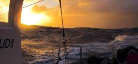 Tiefstehende Sonne im Southern Ocean