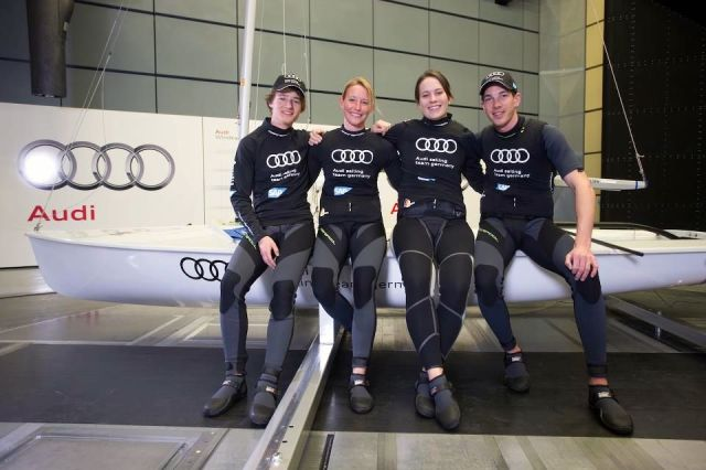 Das STG Team im Audi Windkanal.