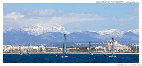 Schneebedeckte Berge auf Mallorca