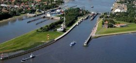 Schleusentore Nord-Ostsee-Kanal
