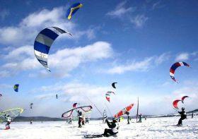 World Ice und Snow Surfing Meisterschaft in Finnland