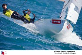 Olympiasieger Matt Belcher im gelben Trikot