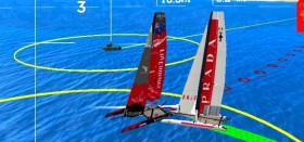 Luna Rossa und Team New Zealand kollidieren beim Match Race