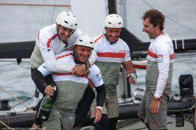 Francesco Bruni feiert Sieg