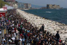 Die Zuschauer verteilten sich über die gesamte Wasserfront. © Gilles Martin Raget/ACEA
