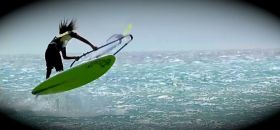 Freestyle Windsurfer vor Bonaire