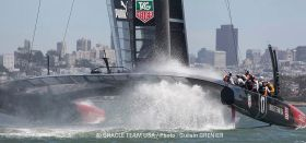 Oracle Team USA am Limit.