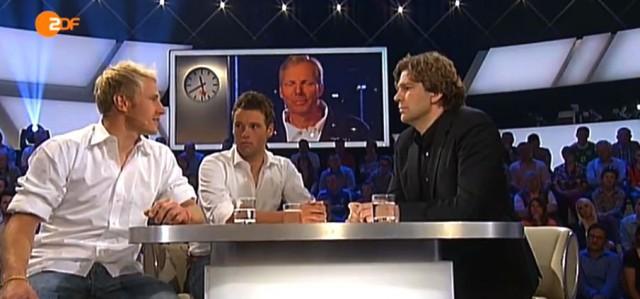 Erik Heil (l.) und Phikipp Buhl im ZDF Sportstudio