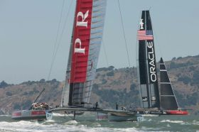 Luna Rossa und Oracle Team USA