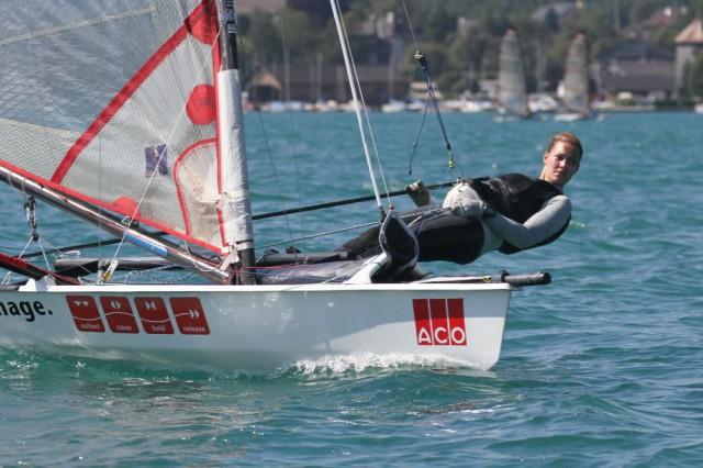 Die beste Frau Catharina Gauda vom Kieler Yacht Club auf Platz 24. Musto Skiff© Sport Consult / Gert Schmidleitner