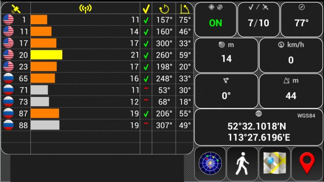 APP zur Ermittlung der Übertragungswerte der jeweiligen Ortungssysteme © Röttgering
