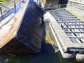 Hausboot, kentern