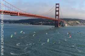 bridge to bridge, San Francisco, 18 ft. Skiff
