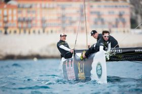 Roman Hagara hatte mit seinem Red Bull Sailing Team das Podium anvisiert - Mission accomplishe © Extreme Sailing Series