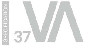 Spezifikationsblatt der Varianta 37