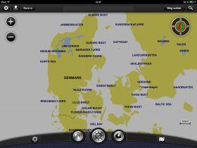 Das mit den iPad Karten befahrene Seegebiet