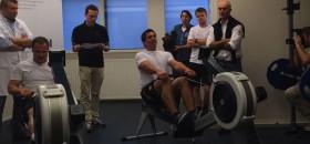 Robert Stanjek (l.) und Pieter Jan Postma mussten beim Volvo Ocean Race Casting schon im Ruder-Duell gegeneinander antreten. Nun duellieren sie sich um den letzten Platz im Brunel Team. © Team Brunel