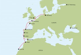 Eine Odyssee, die hoffentlich keine wird. Jimmy Cornell führt die Teilnehmer an Weteuropa entlang © European odyssey