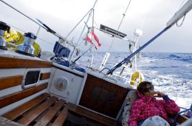 Der Skipperin ist manchmal auf längeren Passagen blümerant zumute © Eitzinger