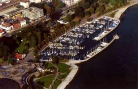 Die neue Wirkungsstätte aus der Luft © Württembergischer Yacht-Club