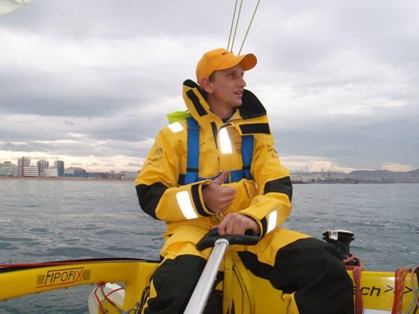 Harald Sedlacek am Ende seiner entbehrungsreichen Reise © fipofix