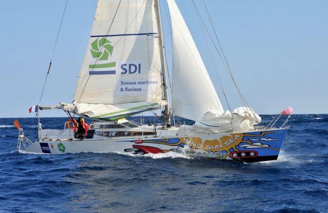 Die große Einsamkeit im Southern Ocean erwartet Narvaez – hier bei seinem letzten Törn gegen Wind und Strom rundum © Narvaez