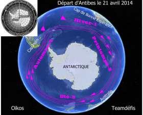 Vier Mal rund um den antarktischen Kontinent © navaez