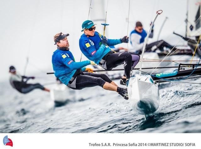 49er Olympiasieger Iker Martinez liegt auf Platz neun bei den Nacra 17. © 2014 Martinez Studio/ 45 TROFEO PRINCESA SOFIA