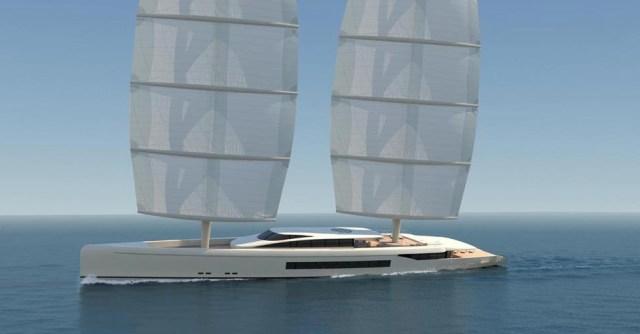 Studie des 67m-Modells mit Dyna-Rigg © Dixon Yacht Design