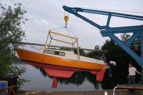Die alte Varianta am Haken am Duisburger Masruen See. Nachster Stopp: Schleswig. © SegelReporter
