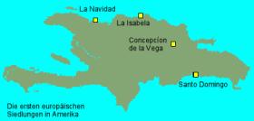 Die ersten europäischen Siedlungen auf Haiti © wikipedia