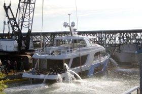 Jetzt wird das Hafenbecken wieder vollgepumpt © yachtvid