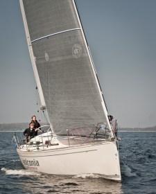Die 'Solconia', das zweite Jugendboot des HSC. will den Deutschen Meistertitel in der Klasse ORC III. ©Alexander Grote