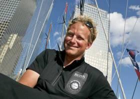 """Ryan Breymaier liegt auf """"Hugo Boss"""" derzeit in Führung © Ocean Masters"""