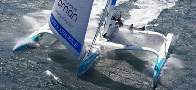 Neuer Streckenrekord beim Welcome Race der Kieler Woche: der MOD70 'Musandam-Oman Sail'. ©Mark Lloyd/Oman Sail