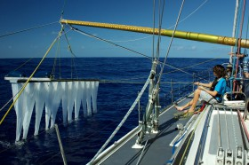 Erste Tests auf dem Meer © ocean cleanup