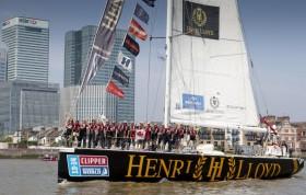 """So sehen Sieger der längsten Yacht-Regatta weltweit aus: Das britische team """"Henri Lloyd"""""""