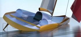 Vorschiff mit Wellenbrecher, Niedergang und Steuerstände für das durchrauschende Wasser optimiert © Speeddream