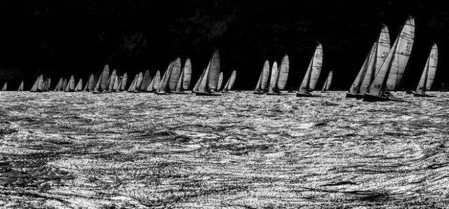 Das Melges 20 Feld auf der Kreuz. ©  Stefano Gattini/ Studio Borlenghi