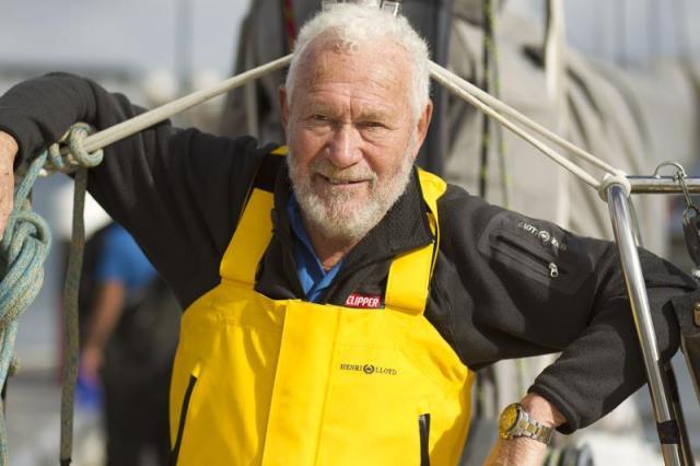Cooler geht's gar nimmermehr: Robin Knox-Johnston, der dienstälteste Teilnehmer der Route du Rhum © Henri Lloyd