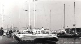 """Unter dem Namen """"Paul Ricard"""" bei der ersten Route du Rhum 1978 © galabrun"""