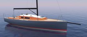 Edles Grau, schönes Holz und Karbonspieren © Hans-Jürgen Segbers/Performance Yacht Design